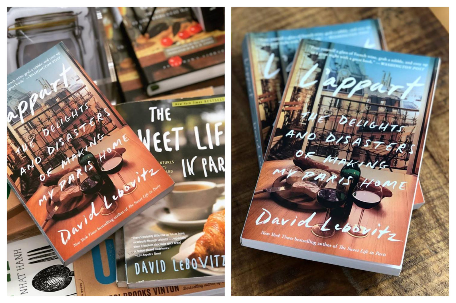 One of our favorite books on living in Paris is 'L'Appart: The Delights and Disasters of Making My Paris Home' by expat author David Lebovitz