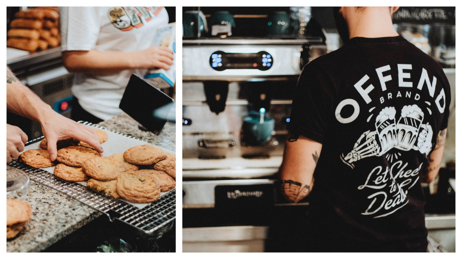 Where to go for the best gluten-free cookies in Paris (left) and for great coffee (right).