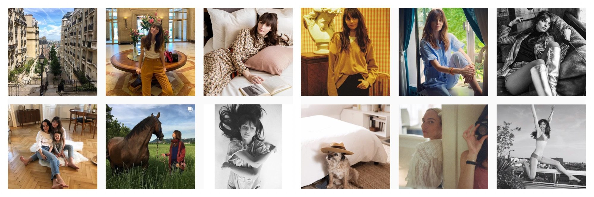 A selection of images of French Instagram fashion influencer Annabelle Belmondo.