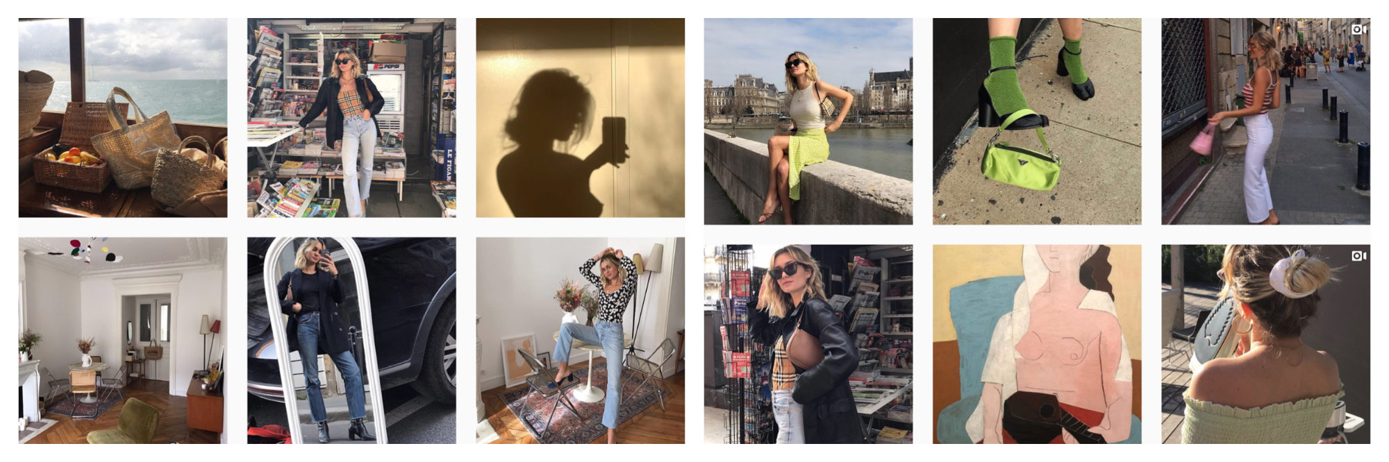 A selection of images of French Instagram fashion influencer Mais Moreau.