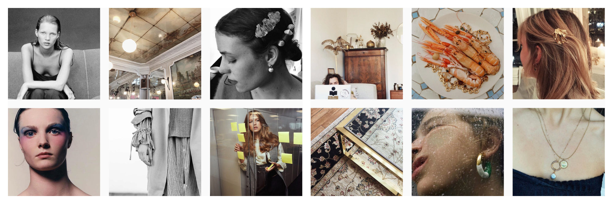 A selection of images of French Instagram fashion influencer Margot Rousseau.