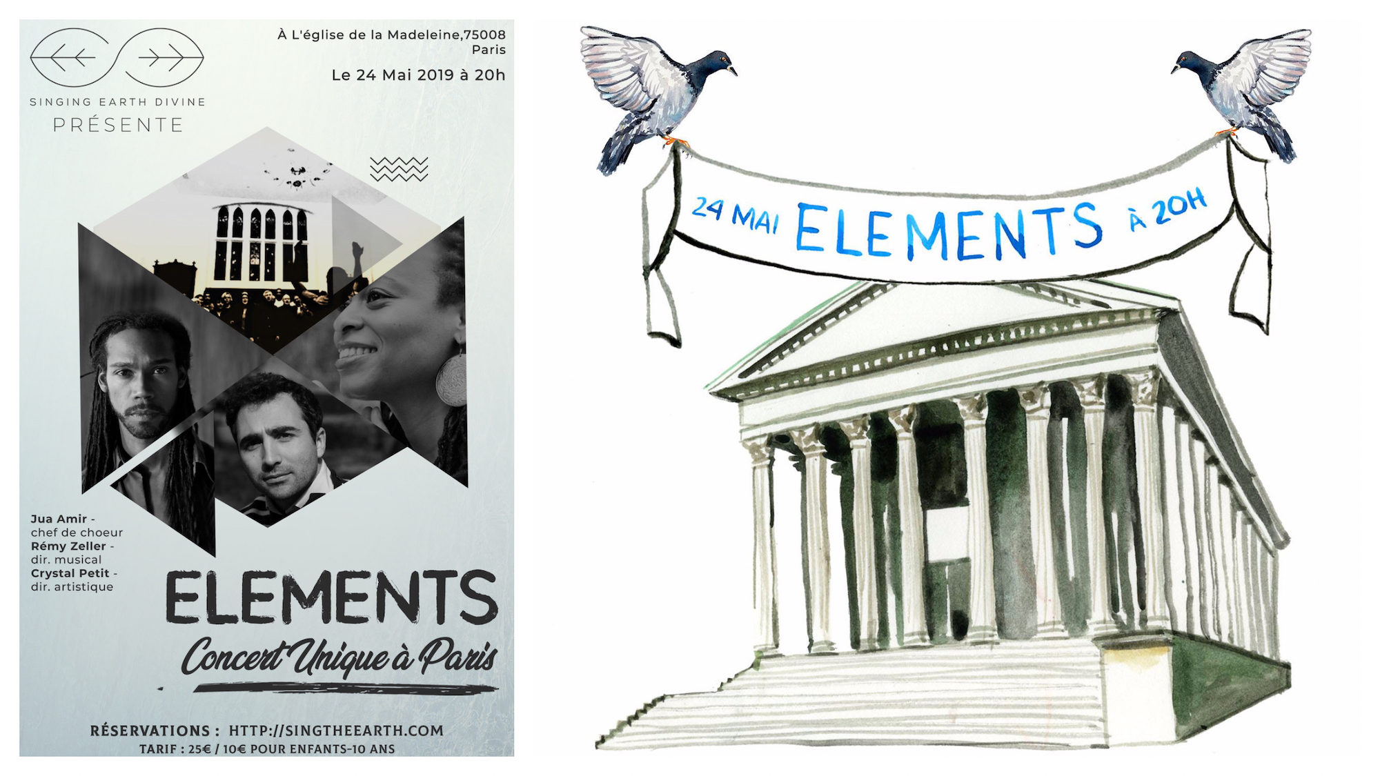 The Elements concert at the Madeleine Church is taking place this May in Paris.