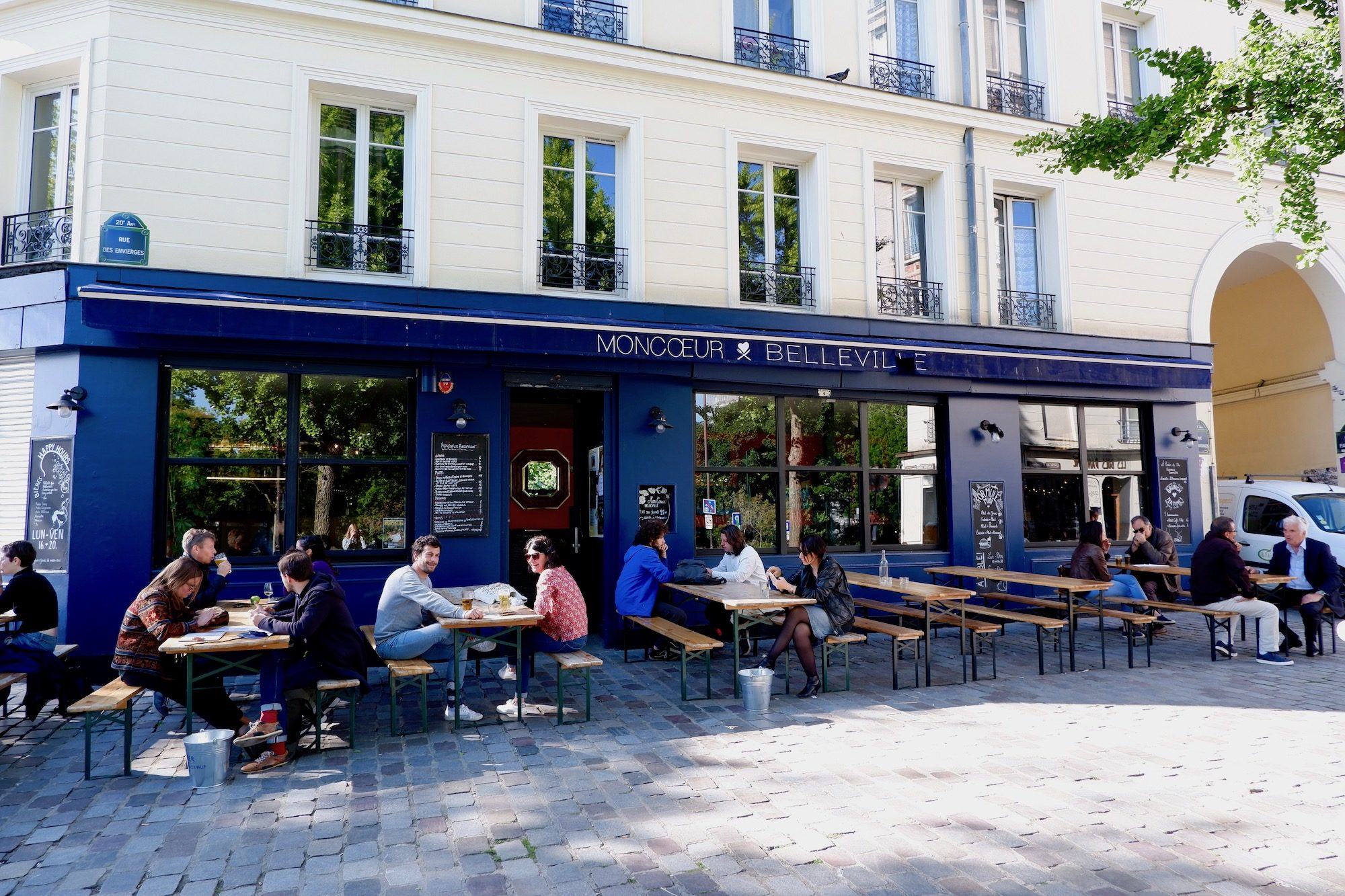 Moncoeur in Belleville, Paris is also a go-to terrace in summer because of the views of Paris and the Eiffel Tower.