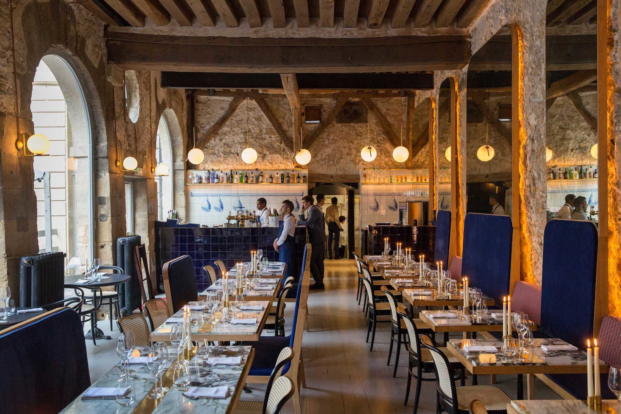 Inside Grandcoeur restaurant in Paris, which is one of the best places to sit down to a French meal.