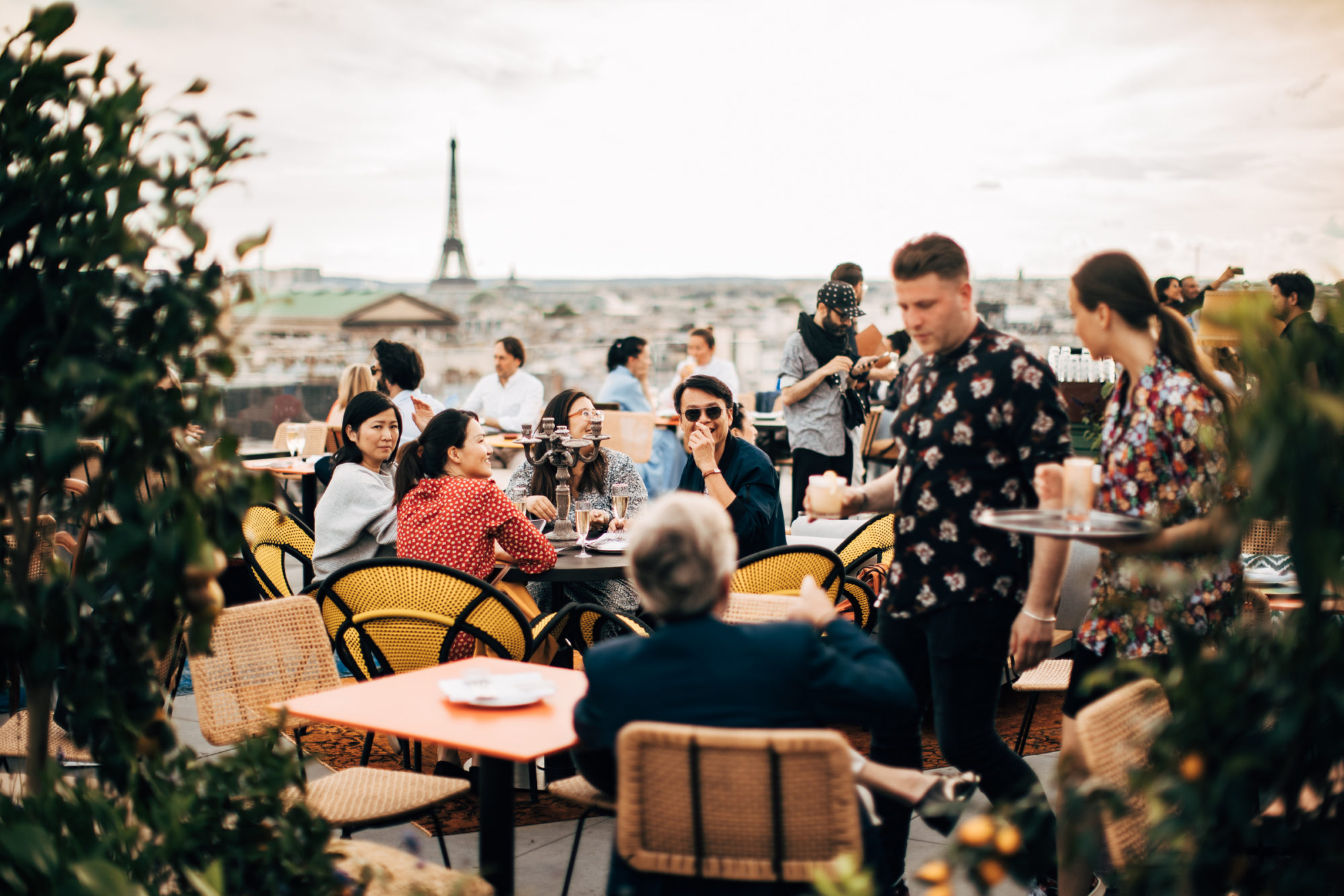 New rooftop bar in Paris, Creatures, has a great view of the Eiffel Tower.