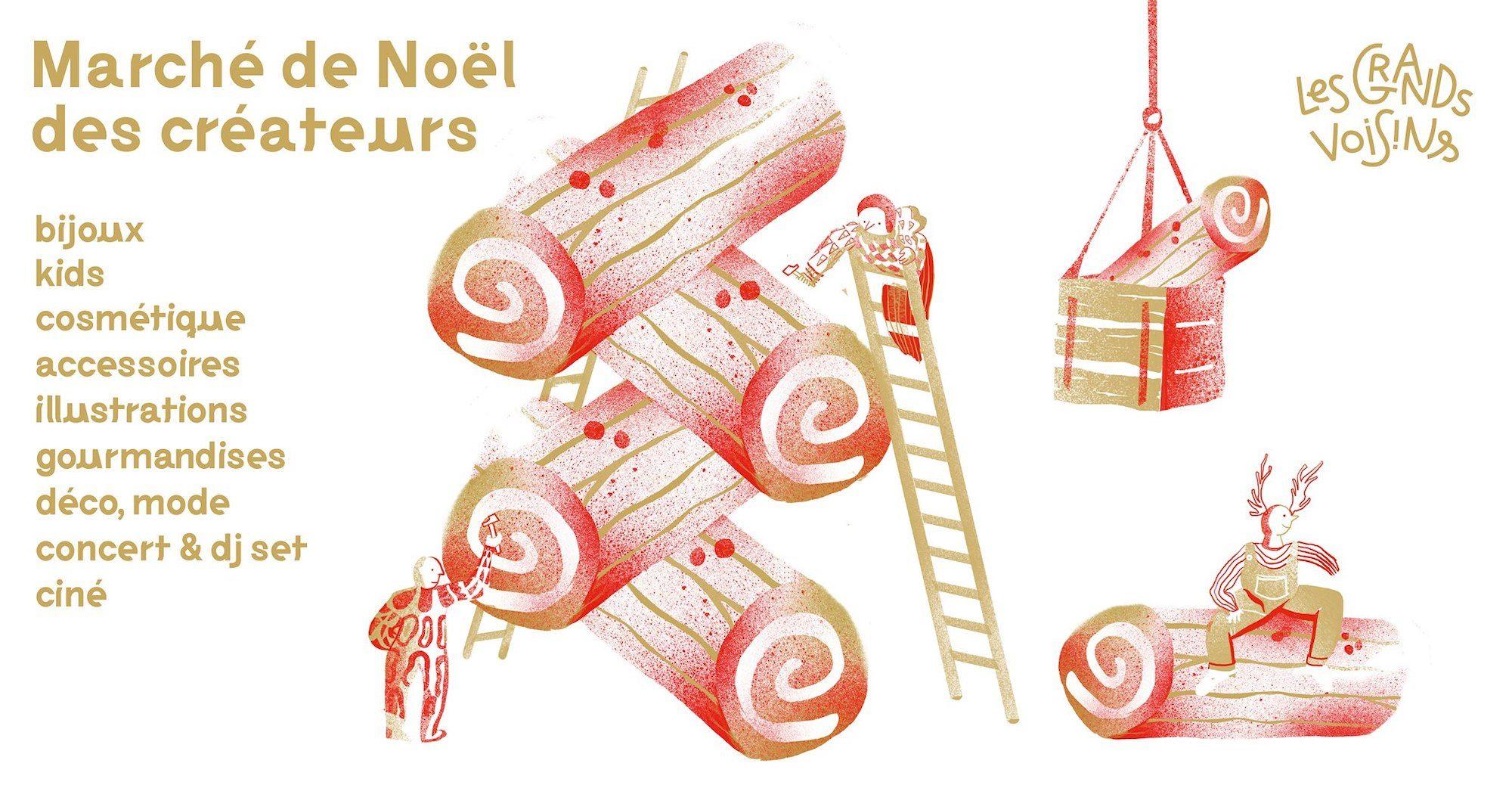 A poster for popular Christmas market Marché de Noel des createurs, taking place this December in Paris.