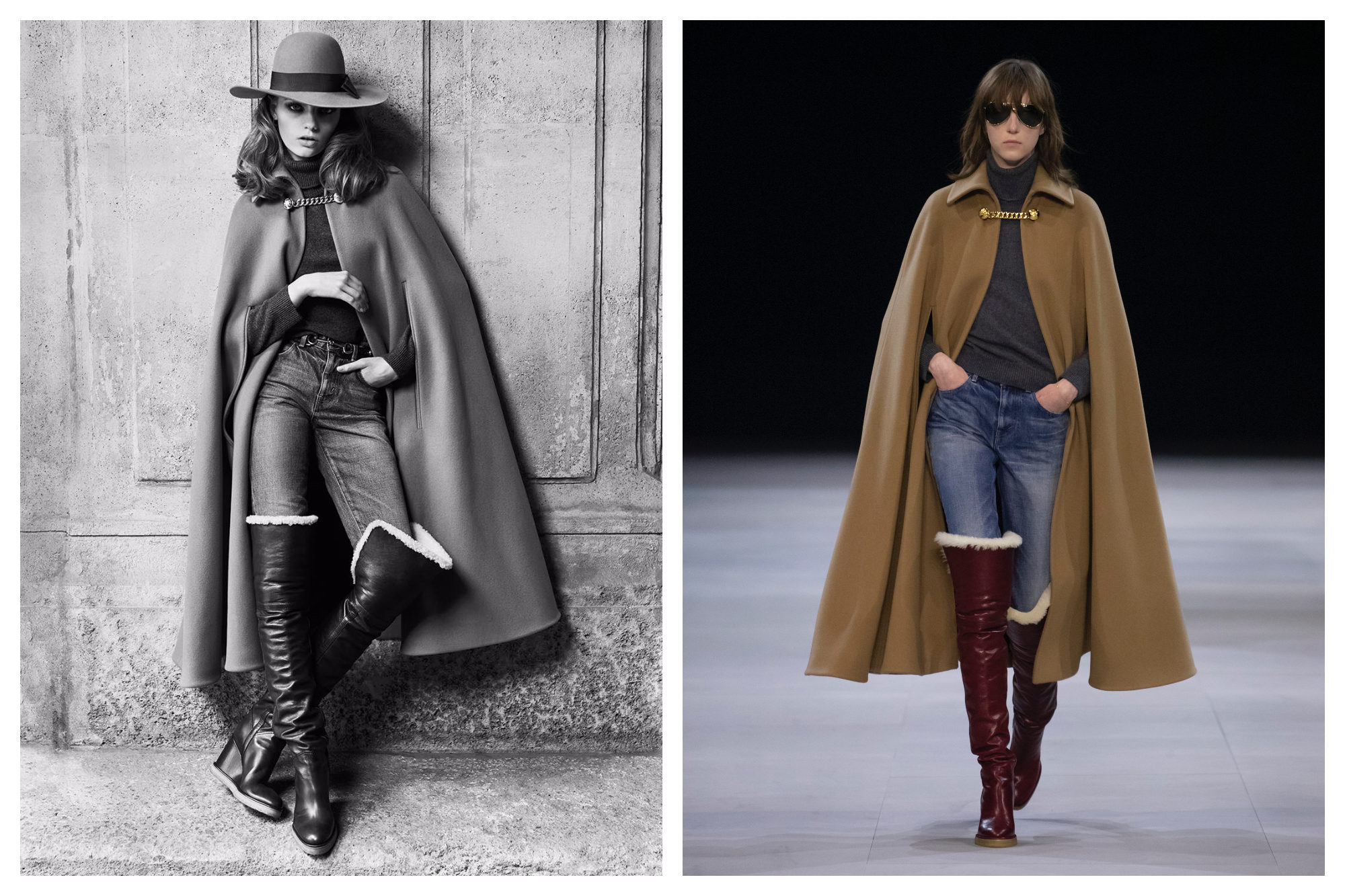Capes are in this winter according to the fashion week trends.