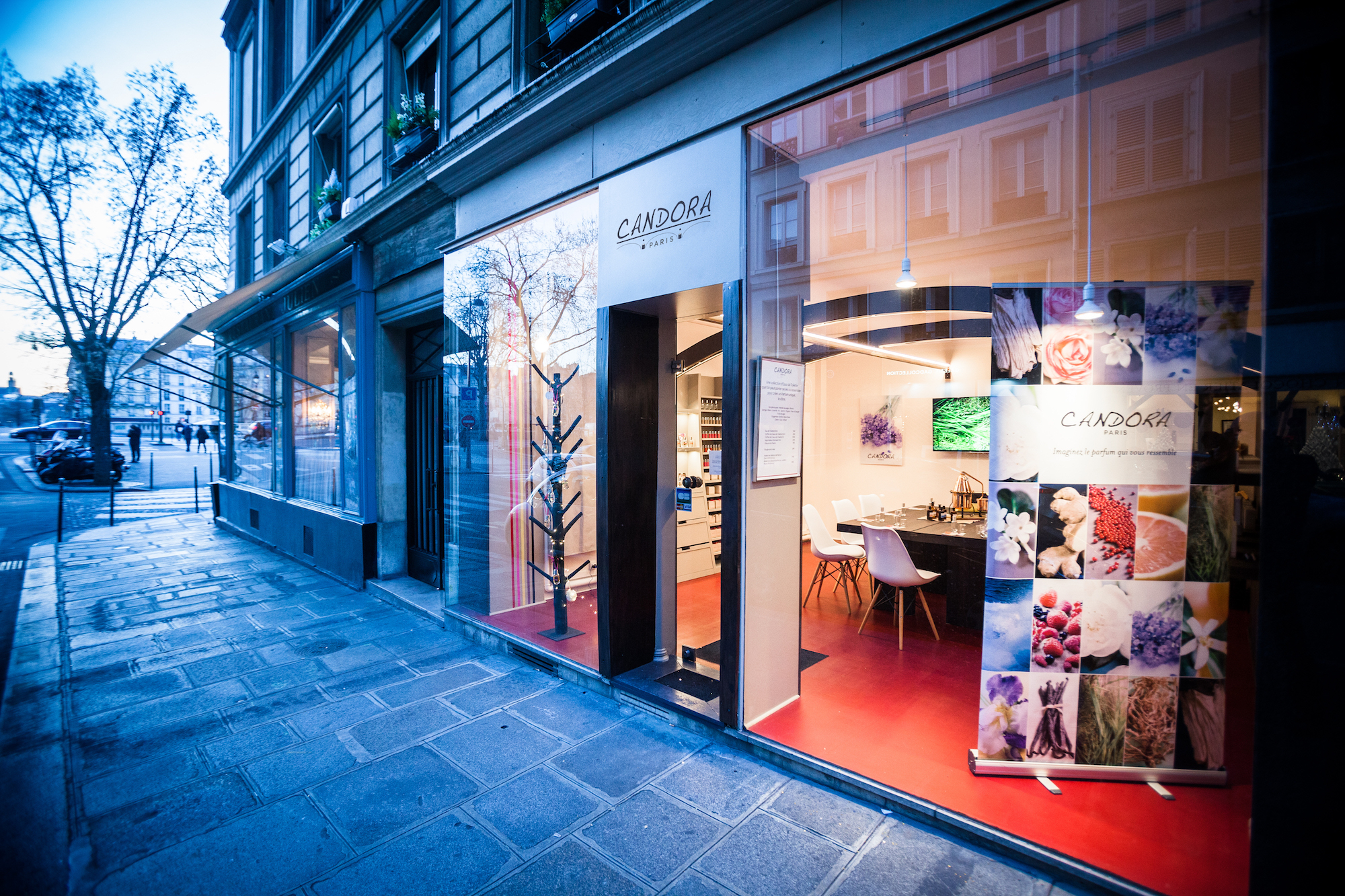 The Candora boutique in Paris' Marais neighborhood welcomes visitors to educational, interactive workshops, where they can create their personalized scent.