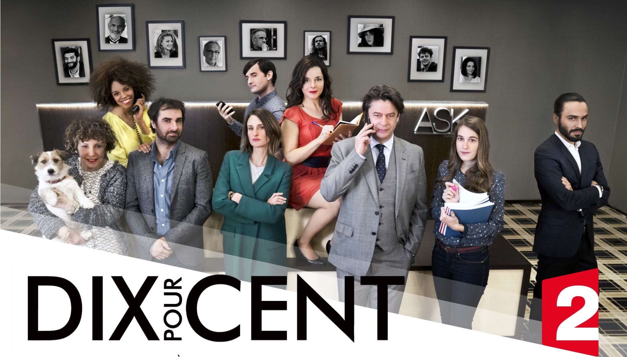 """The cast of French Netflix series Call my agent or """"Dix Pour Cent"""" in French, which is perfect for watching while on lockdown during the Covid-19 lockdown."""